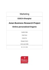 asian business project online personalized lingerie