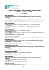rsi liste organismes conventionnes rsi au 010111