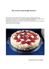 mes recettes propoints weight watcher