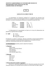 methode granulometrique