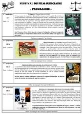 festival du film judiciaire programme