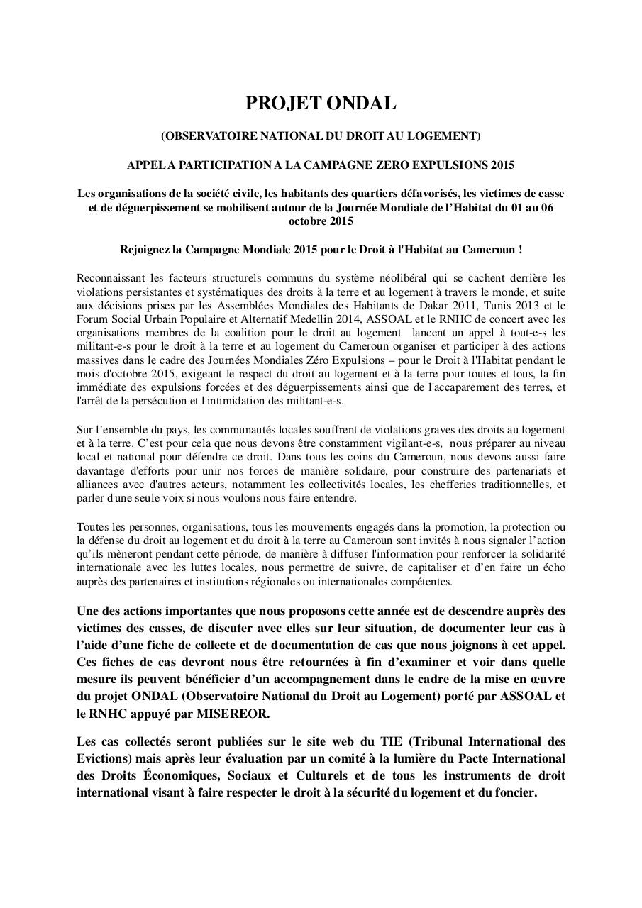 Appel à participation Campagne Zero Eviction.pdf - page 1/2