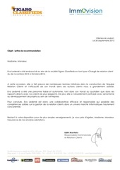 lettres de recommandations figaro classifieds et fdj