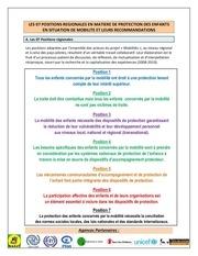 positions et recommandations regionales mobillites