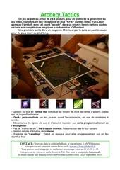 Fichier PDF presentation du jeu archery