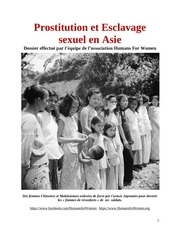 prostitution et esclavage sexuel en asie