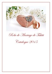 robe de mariage de tahiti 2015 catalogue client