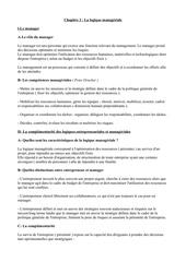 chapitre 2 la logique manageriale