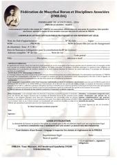Fichier PDF formulaire de licence fmb da