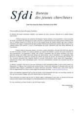 lettre du reseau des jeunes chercheurs de la sfdi n 9