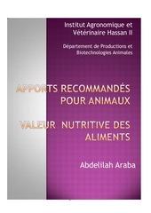 besoins et valeur nutritive 2007