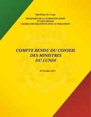 conseil des ministres du 5 octobre 2015