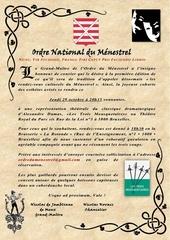 invitation ordre du menestrel octobre 2015 1