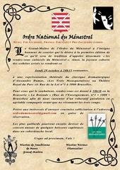 invitation ordre du menestrel octobre 2015