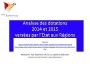 dotations regionales 2014 et 2015