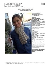 Fichier PDF f662 baby alpaca worsted nickle and dime scarf