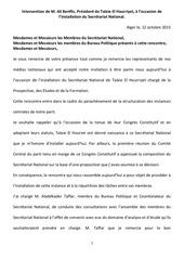 intervention de m ali benflis president de talaie el hourriyet a l occasion de l installation du secretariat national
