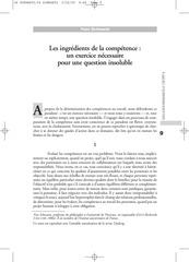 schwartz y les ingredients de la competence 1997