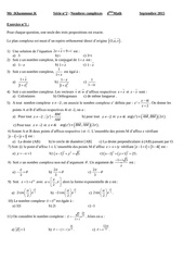 serie n 2 nombres complexes