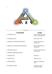 comande admin ark