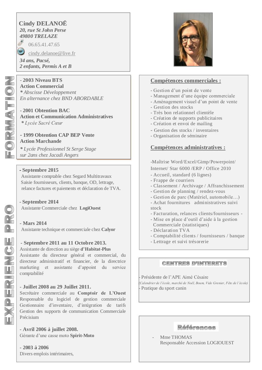 cv cindy delano u00eb 2015 pdf par maison - fichier pdf  1