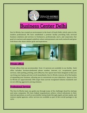 business center delhi
