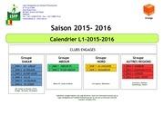 calendrier l1 2015 2016