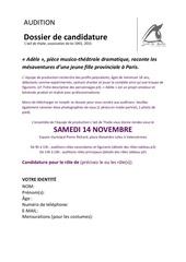Fichier PDF dossier audition