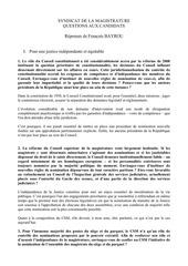 reponses de francois bayrou