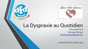 la dyspraxie au quotidien