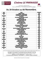 prog du 20 au 08 novembre