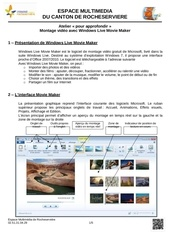 montage video avec windows live movie maker