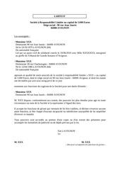 Fichier PDF nomin gerant