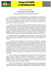 declaration liminaire uc flnks 14 10 15