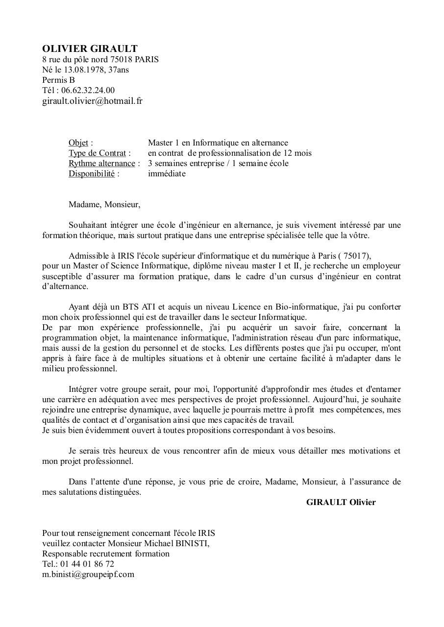 lettre de motivation ogirault par letsrock