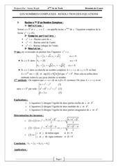 Fichier PDF nombres complexesresolution des equations jemai wajdi