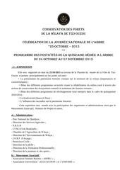 programme 24 10 au 07 11