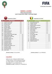 Fichier PDF feuille de match maroc vs guinee amical