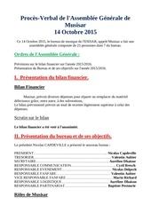 proces verbal de l assemblee generale de musisar 2015 1