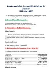 proces verbal de l assemblee generale de musisar 2015