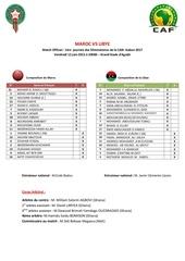 start list maroc vs libye 12 juin 2015 gsa