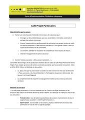 presentation cafe projet partenaires
