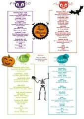 programme clubs enfants toussaint 2015