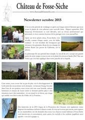 newsletter octobre 2015