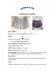 shortie shell capelet