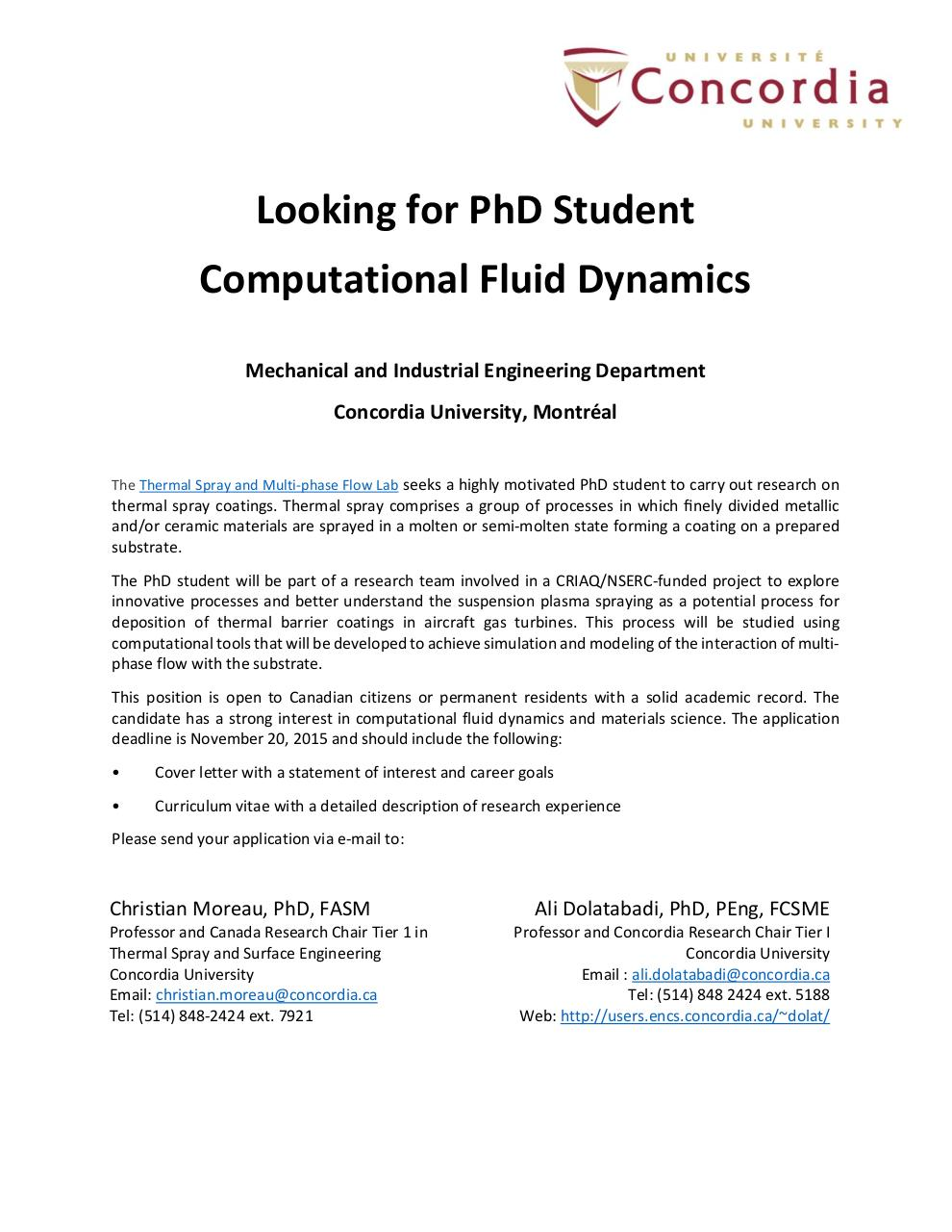 Phd thesis cfd