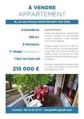 appartement 4 chambres 95610