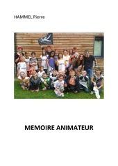 memoire d animateur