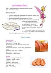 astuces et listing recette le croissant party