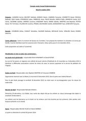 compte rendu conseil d administration mardi 6 octobre 2015